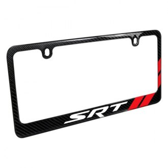 iPickimage® - License Plate Frame with SRT Logo and Red Stripe
