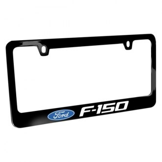 iPickimage® - Glossy Black License Plate Frame with F-150 Logo and Ford Emblem