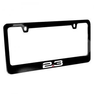 iPickimage® - Glossy Black License Plate Frame with 2.3 Logo