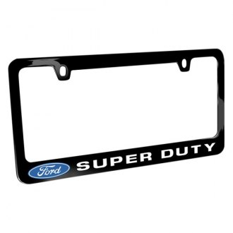 iPickimage® - Glossy Black License Plate Frame with Super Duty Logo and Ford Emblem