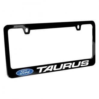 iPickimage® - Glossy Black License Plate Frame with Taurus Logo and Ford Emblem