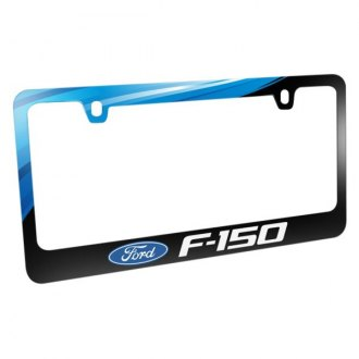 iPickimage® - Graphic Glossy Black License Plate Frame with F-150 Logo and Ford Emblem