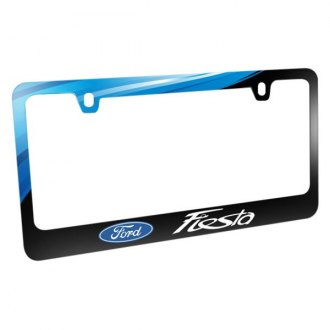 iPickimage® - Graphic Glossy Black License Plate Frame with Fiesta Logo and Ford Emblem