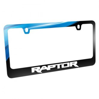 iPickimage® - Graphic Glossy Black License Plate Frame with Raptor Logo