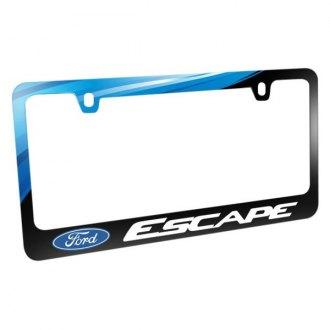 iPickimage® - Graphic Glossy Black License Plate Frame with Escape Logo and Ford Emblem