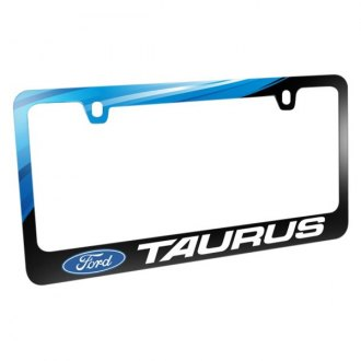 iPickimage® - Graphic Glossy Black License Plate Frame with Taurus Logo and Ford Emblem