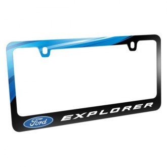 iPickimage® - Graphic Glossy Black License Plate Frame with Explorer Logo and Ford Emblem