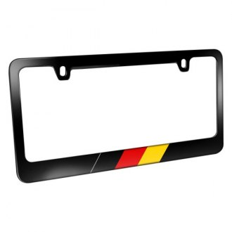 iPickimage® - License Plate Frame with German Flag in Sports Stripe