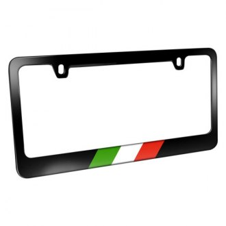iPickimage® - License Plate Frame with Italy Flag in Sports Stripe