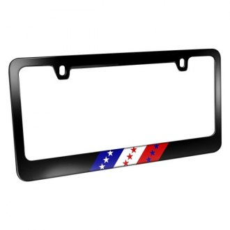 iPickimage® - License Plate Frame with USA American Flag in Sports Stripe