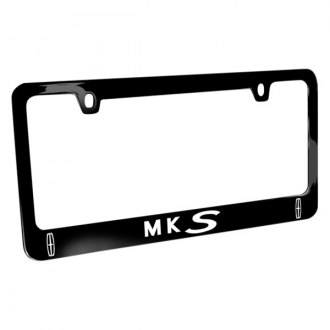 iPickimage® - Glossy Black License Plate Frame with MKS Logo and Dual Lincoln Emblem
