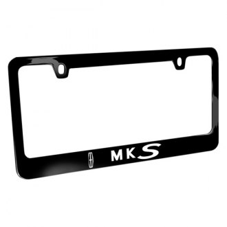iPickimage® - Glossy Black License Plate Frame with MKS Logo and Lincoln Emblem