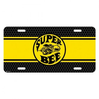 iPickimage® - Yellow Stripe Color Graphic License Plate with Super Bee Logo
