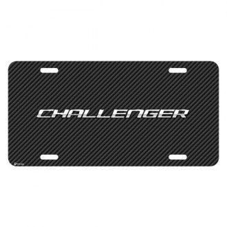 iPickimage® - Look Graphic Carbon Fiber License Plate with Challenger Logo