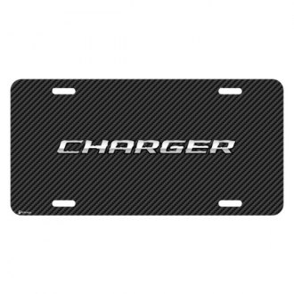 iPickimage® - Look Graphic Carbon Fiber License Plate with Charger Logo