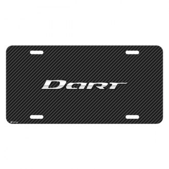 iPickimage® - Look Graphic Carbon Fiber License Plate with Dart Logo