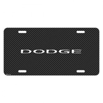 iPickimage® - Look Graphic Carbon Fiber License Plate with Dodge Logo