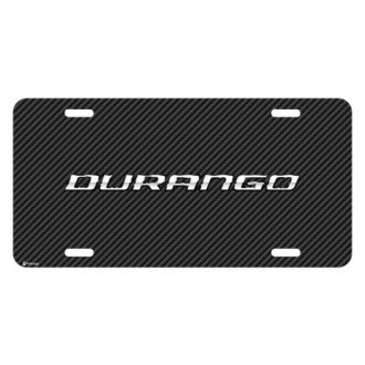 iPickimage® - Look Graphic Carbon Fiber License Plate with Durango Logo