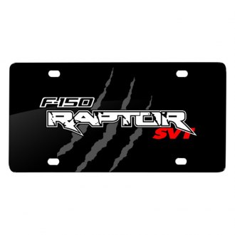 iPickimage® - Claw Marks Black License Plate with F-150 Raptor SVT Logo