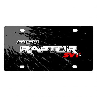 iPickimage® - Splash Marks License Plate with F-150 Raptor SVT Logo