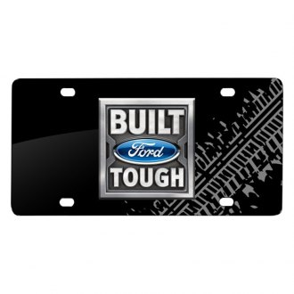 iPickimage® - Tire Mark Black License Plate with Built Ford Tough Logo