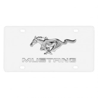 iPickimage® - License Plate with 3D Mustang Logo and Horse Emblem