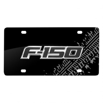 iPickimage® - Tire Mark Black License Plate with 3D F-150 Logo