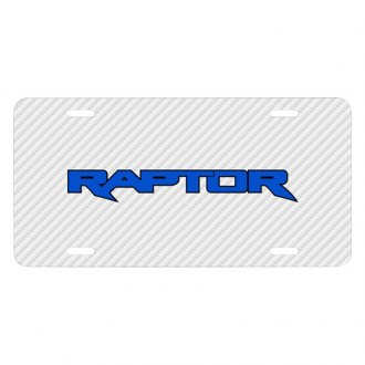 iPickimage® - Carbon Fiber Texture Graphic UV License Plate with Raptor Logo