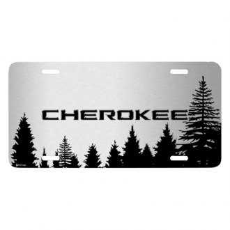iPickimage® - Forrest Sillhouette Graphic License Plate with Cherokee Logo