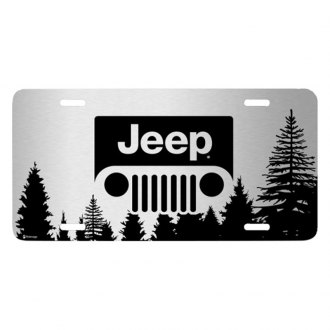 iPickimage® - Forrest Sillhouette Graphic License Plate with Jeep Grill Logo