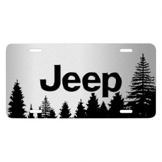iPickimage® - Forrest Sillhouette Graphic License Plate with Jeep Logo