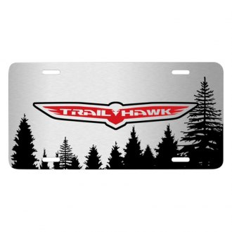 iPickimage® - Forrest Sillhouette Graphic License Plate with Trailhawk Logo