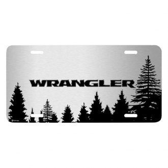 iPickimage® - Forrest Sillhouette Graphic License Plate with Wrangler Logo