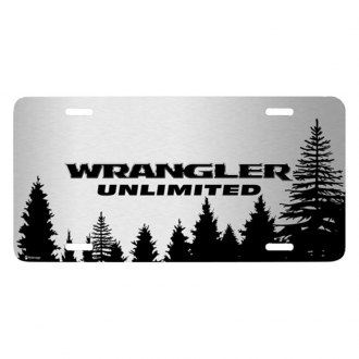 iPickimage® - Forrest Sillhouette Graphic License Plate with Wrangler Unlimited Logo