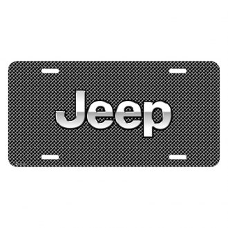 iPickimage® - Mesh Grill Graphic License Plate with Jeep Logo