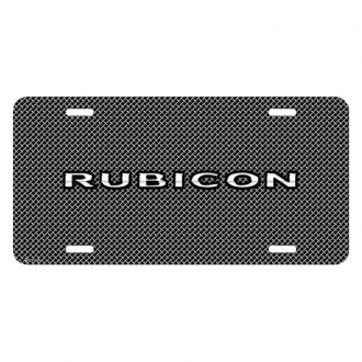 iPickimage® - Mesh Grill Graphic License Plate with Rubicon Logo
