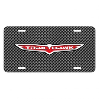 iPickimage® - Mesh Grill Graphic License Plate with Trailhawk Logo