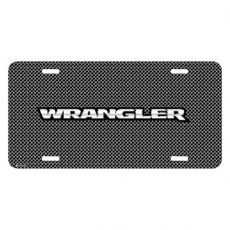 iPickimage® - Mesh Grill Graphic License Plate with Wrangler Logo