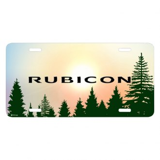 iPickimage® - Forrest Sillhouette Graphic License Plate with Rubicon Logo
