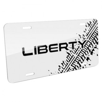 iPickimage® - Tire Mark White License Plate with Liberty Logo