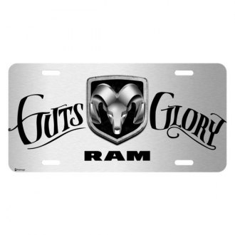 iPickimage® - License Plate with Script RAM Guts-Glory Logo