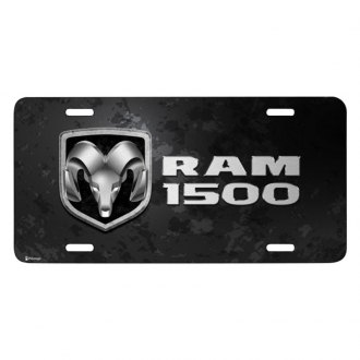 iPickimage® - Metal Look Graphic License Plate with Ram 1500 Logo