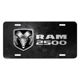 iPickimage® - Metal Look Graphic License Plate with Ram 2500 Logo