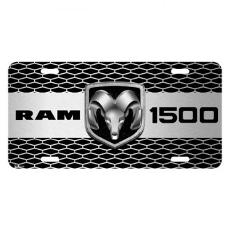 iPickimage® - Grille Graphic License Plate with RAM 1500 Truck Logo