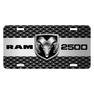iPickimage® - Grille Graphic License Plate with RAM 2500 Truck Logo