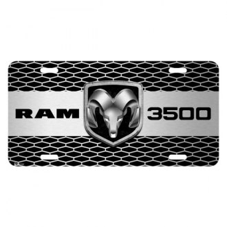 iPickimage® - Grille Graphic License Plate with RAM 3500 Truck Logo