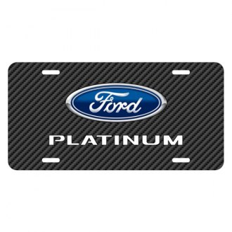 iPickimage® - Carbon Fiber Texture Graphic UV License Plate with Ford F-150 Platinum Logo
