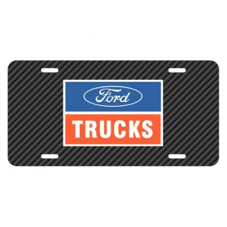 iPickimage® - Carbon Fiber Texture Graphic UV License Plate with Ford Trucks Logo