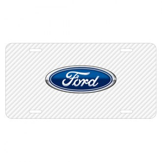 iPickimage® - Carbon Fiber Texture Graphic UV License Plate with Ford Logo