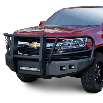 Iron Bull Bumpers® - Full Width Black Front HD Bumper with Carnage Guard